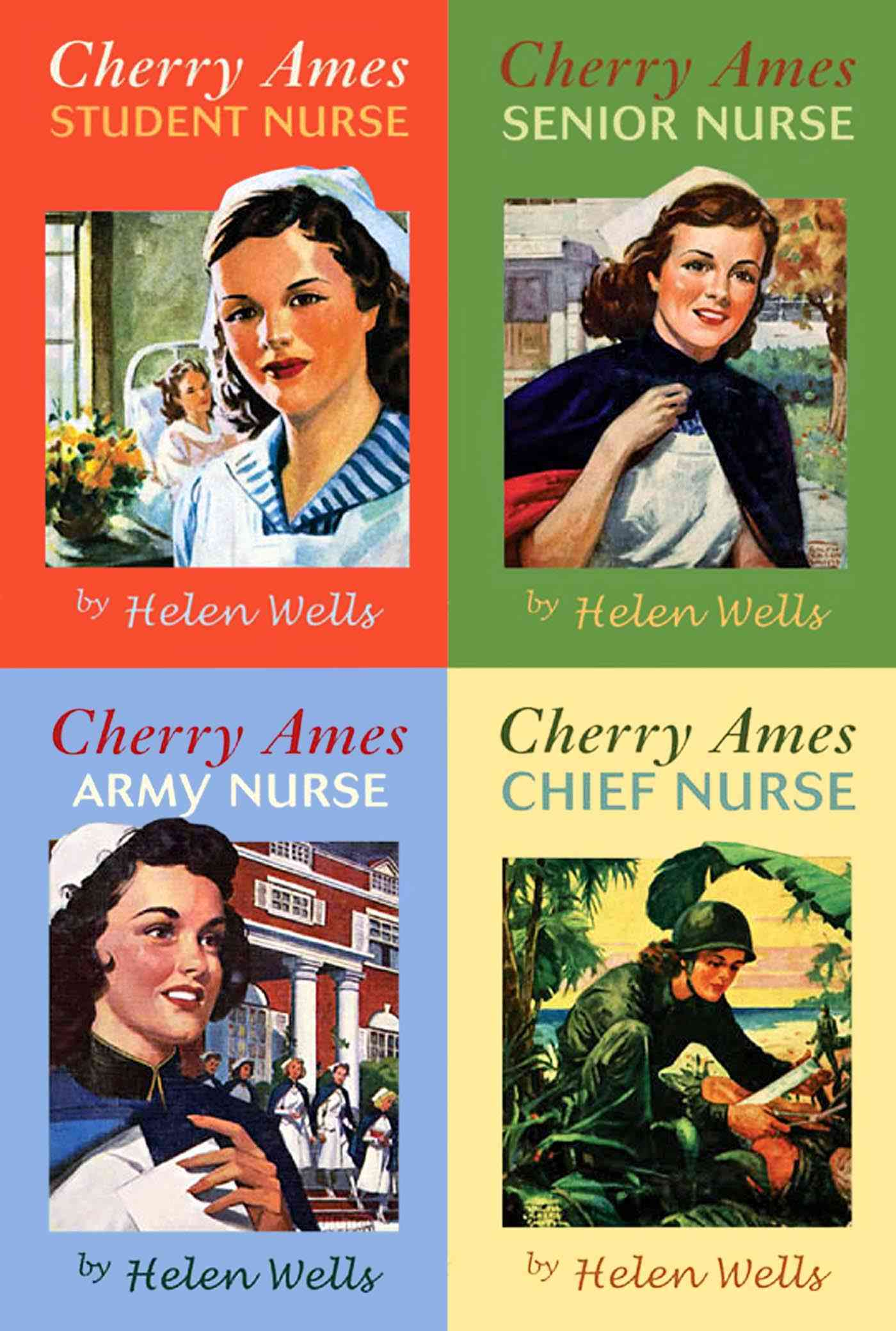 The Cherry Ames Nursing Stories Set book 1-4 By Wells, Helen
